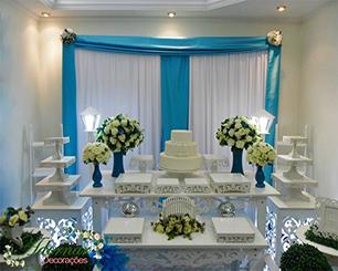 Decoração 15 Anos Azul Tiffany