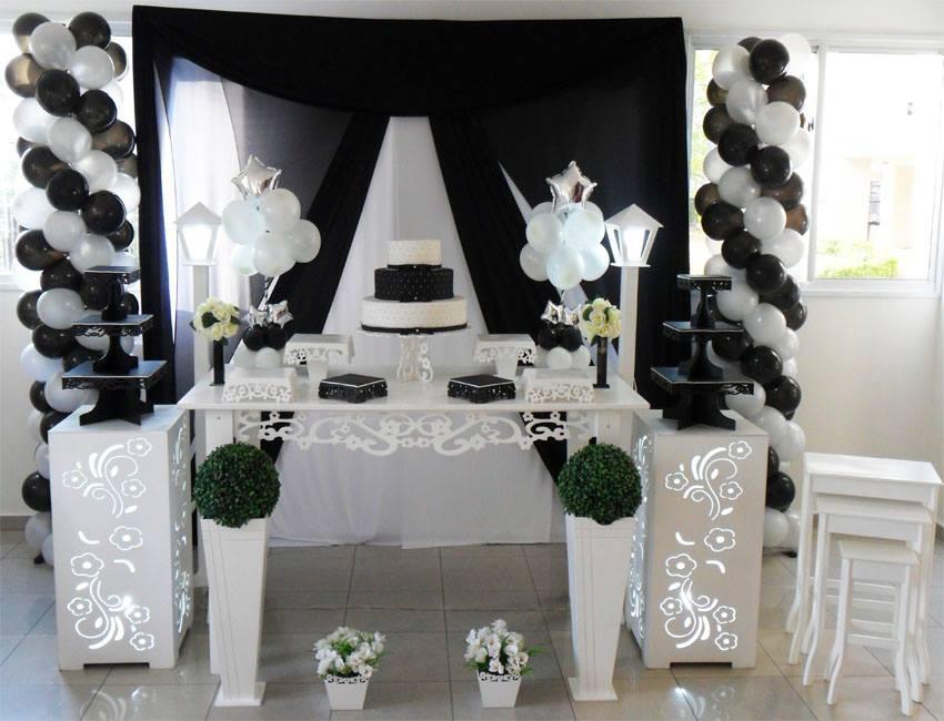 Locaç u00e3o de Decoraç u00e3o Para Festa de 15 Anos -> Decoração Xadrez Preto E Branco