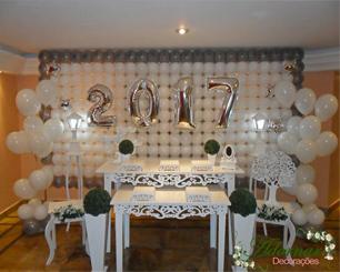 Locação Decoração de Ano Novo e Eventos Réveillon Com Duas Mesas Florais
