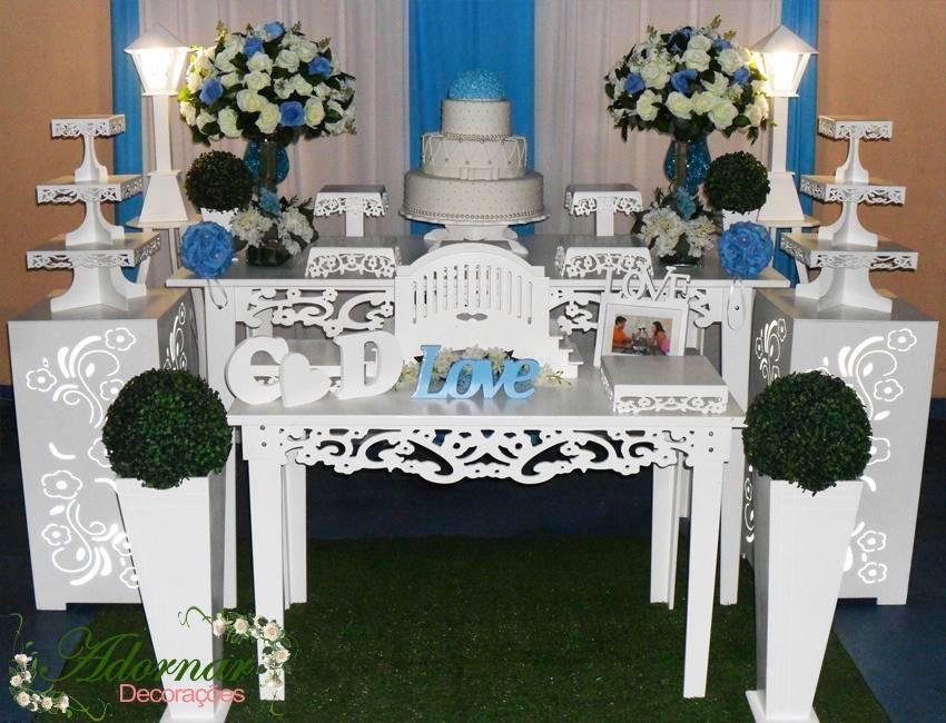 decoracao azul e amarelo noivado:azul aluguel decoração para casamento e noivado vermelho e azul kit