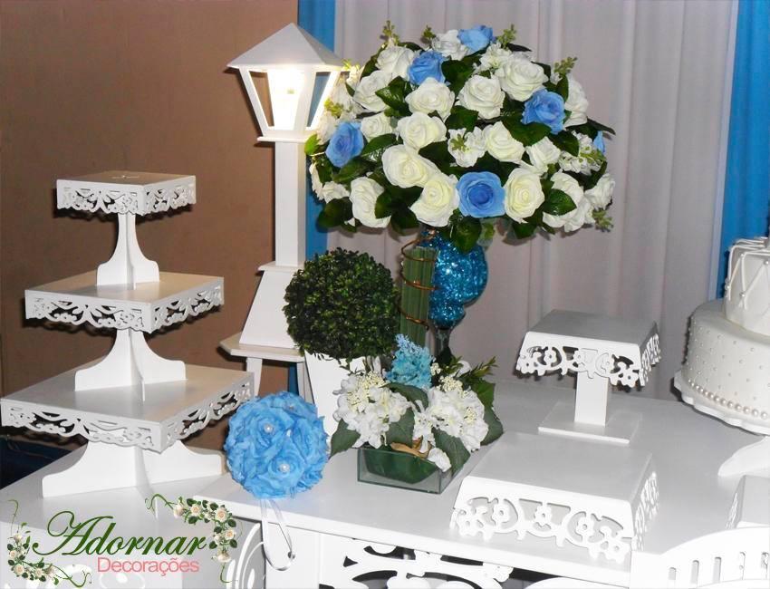 decoracao azul e amarelo noivado:Locação Decoração Mesa Provençal Casamento