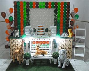 Decoração Chá de Bebê Safari Tema Completo Com 1 Mesa