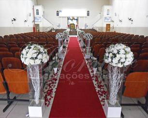 Decoração Corredor de Cerimônia em Branco